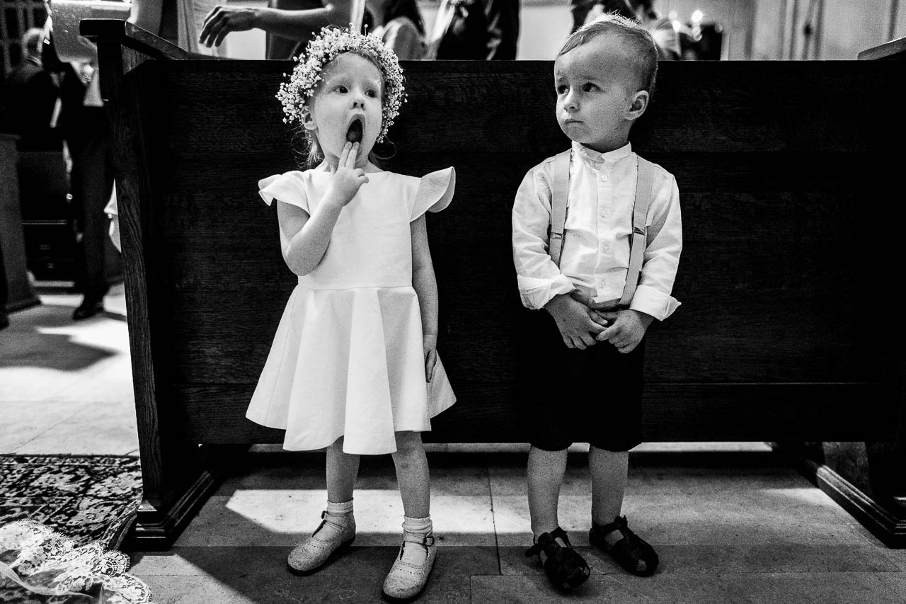 Photo d'enfants pendant un mariage près de Perpignan