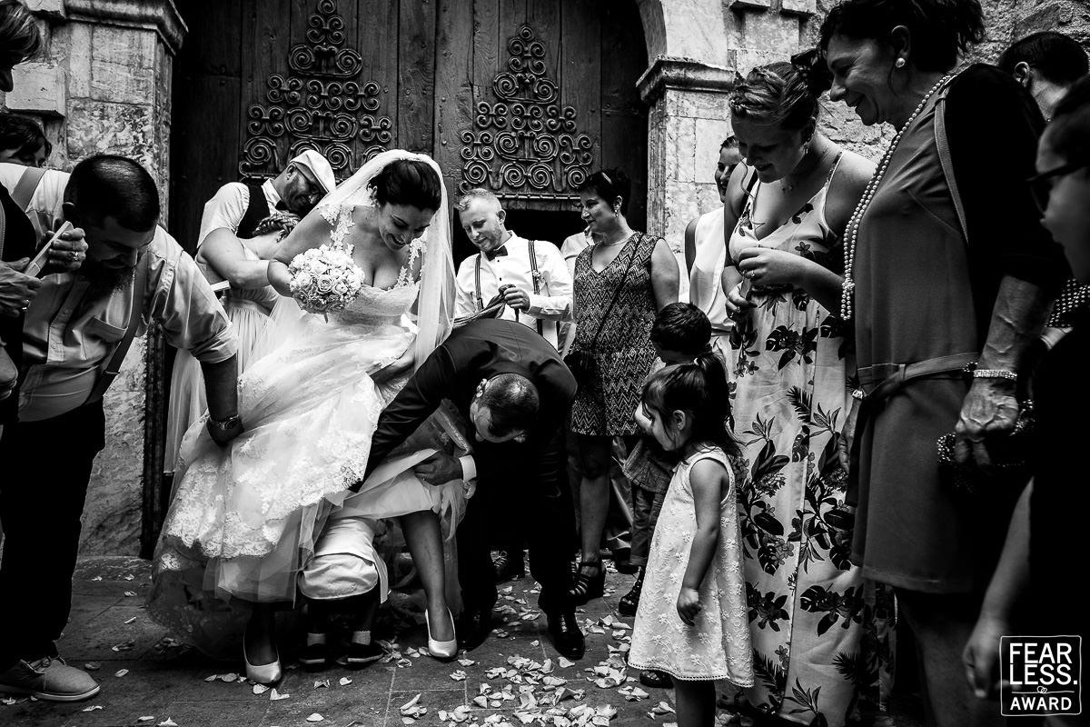 Photo de mariage récompensée par le concours Fearless Photographers