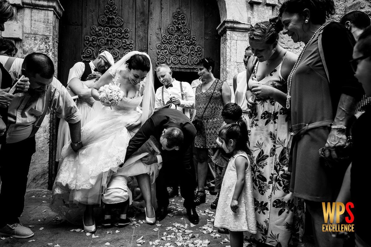 Photo de mariage récompensée par le concours WPS