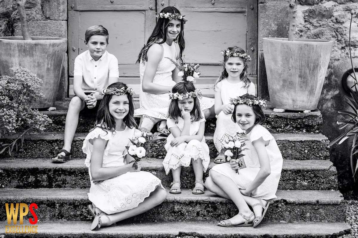 Photo de groupe de mariage récompensée à un concours de photo international