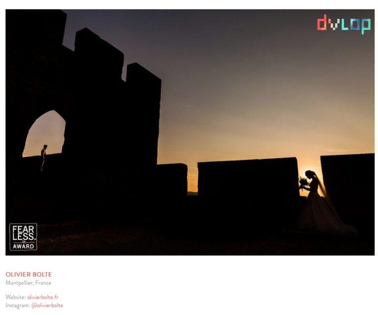 Parution d'une photographie primée aux concours internationaux sur un site de logiciel photo