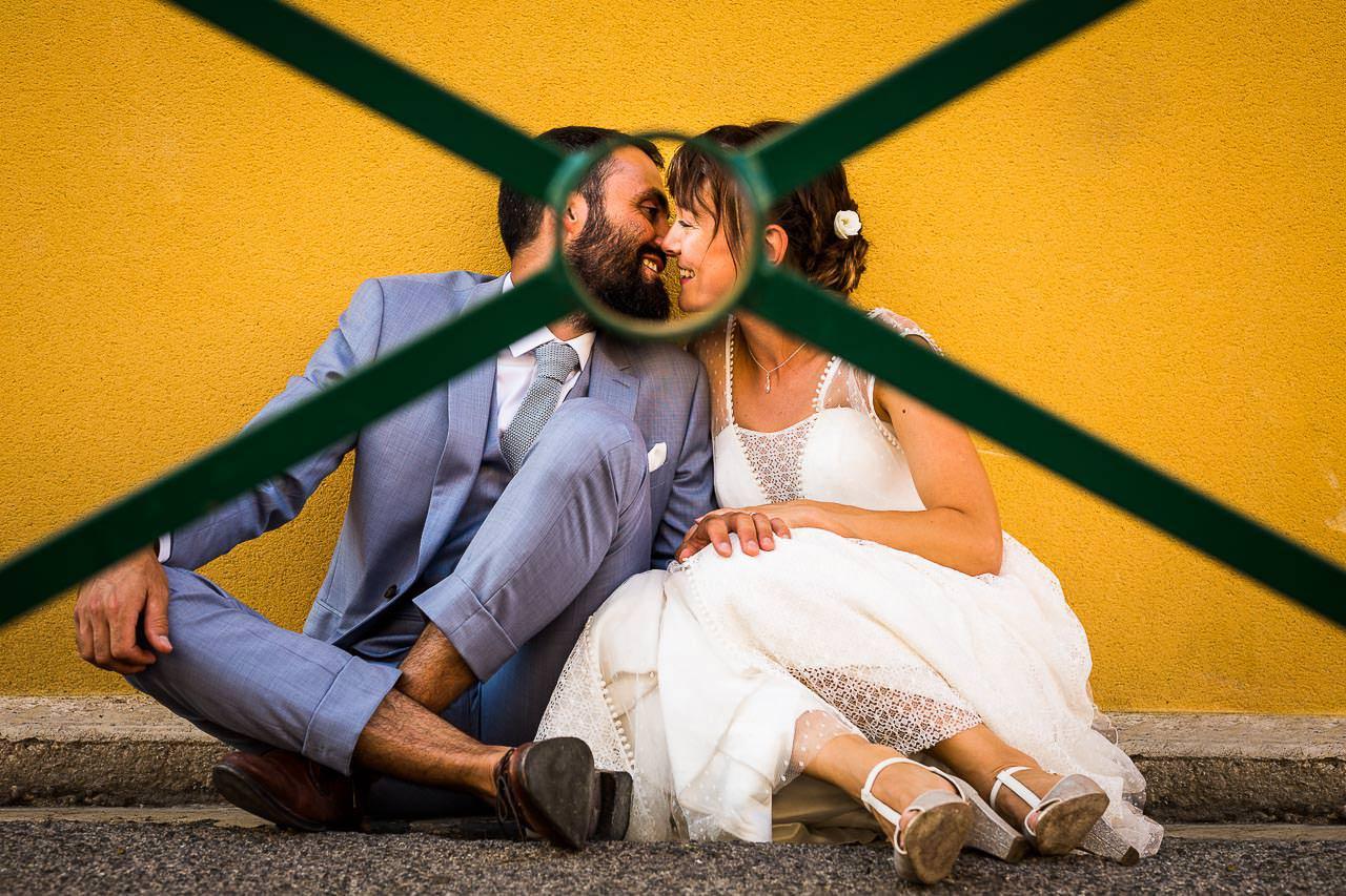 Photo d'un couple de mariés lors de leur séance Day After après leur mariage à Béziers