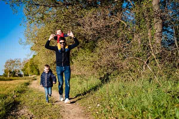Olivier Bolte photographe à Perpignan en balade avec sa famille