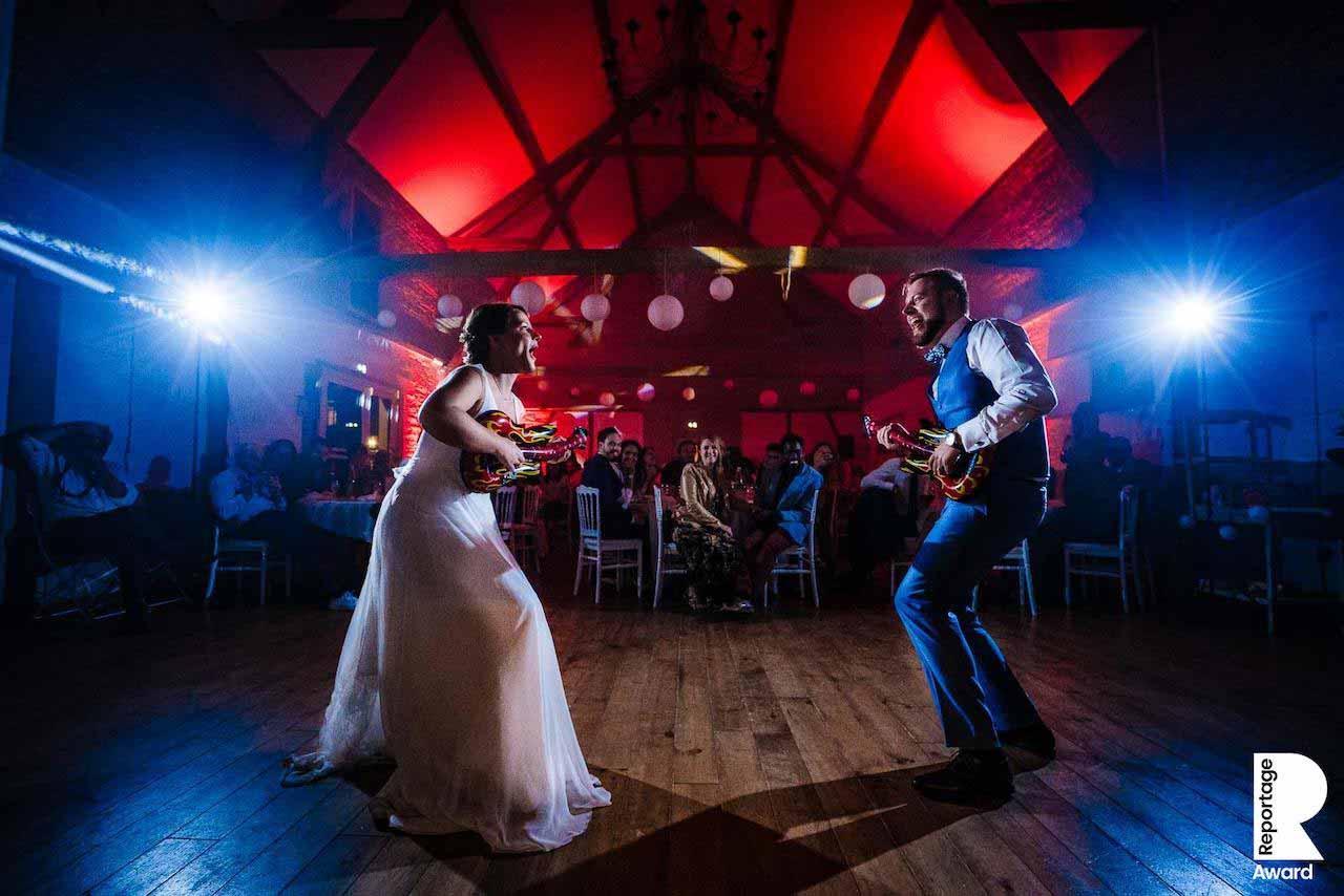 Photo des mariés pendant leur première danse qui a reçu un award international