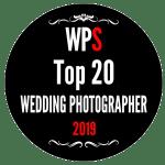 Badge des finalistes du concours international de photo de mariage WPS