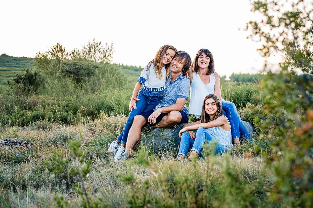 Photo d'une famille dans le sud de la france