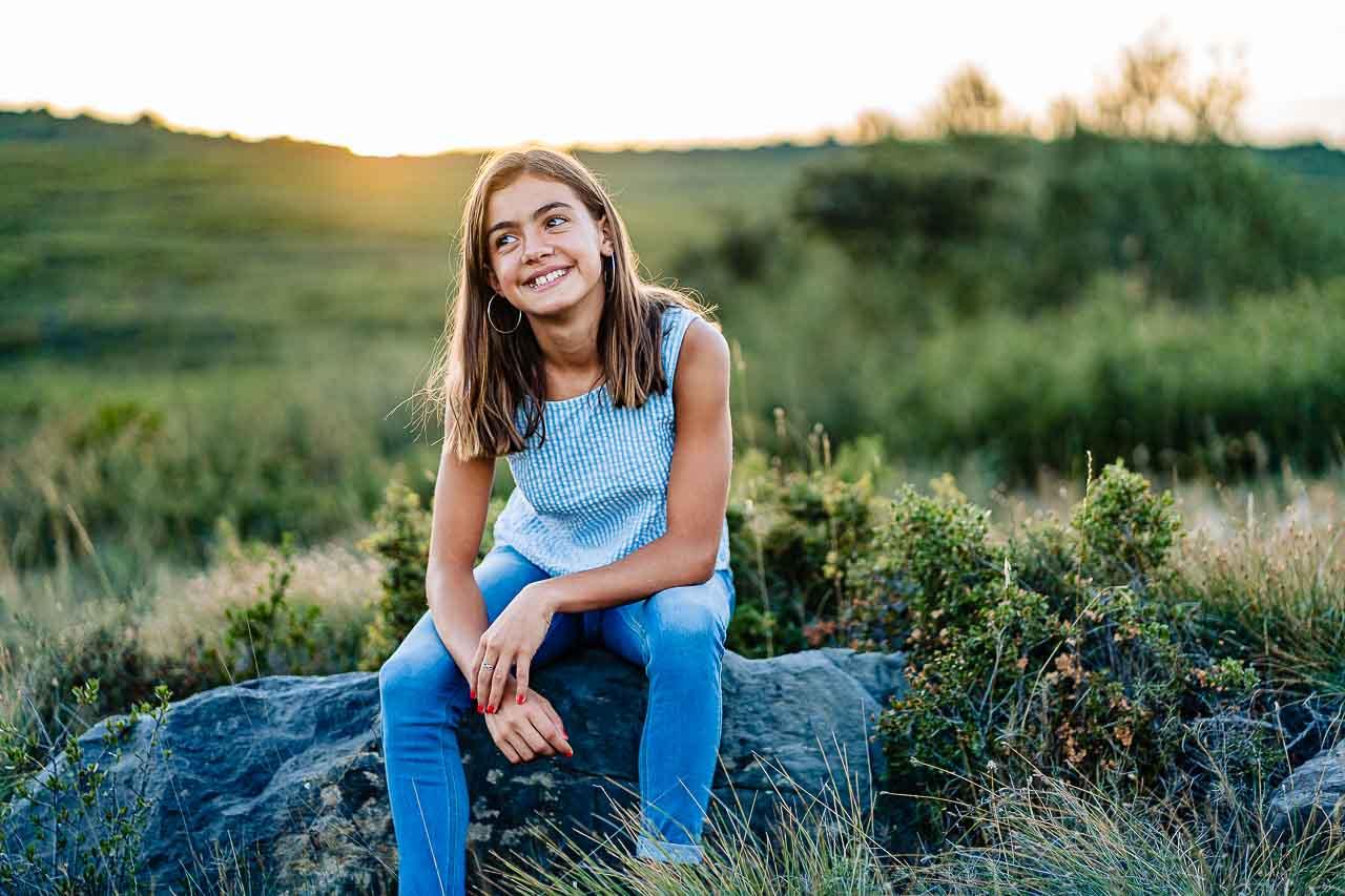 Portrait photo d'une fille lors d'un shooting avec Olivier Bolte près de Perpignan
